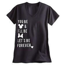 DISNEY Mickey & Minnie Mouse Icon Text Let's Be Forever Tshirt Size XXXL 3X NWT