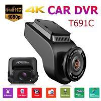 "T691C 2""4K Dual Lens Dashcam KFZ Auto DVR Kamera FHD 1080P Video Bewegungssensor"