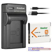 Kastar Battery Slim Charger for Sony NP-BN1 BC-CSN & Sony Cyber-shot DSC-W630