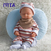 IVITA 15'' Silicone Reborn Baby GIRL Eyes Closed Sleeping Silicone Doll