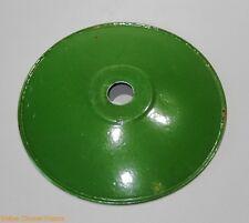 abat-jour type assiette industriel loft en fer émaillé vert et blanc vintage