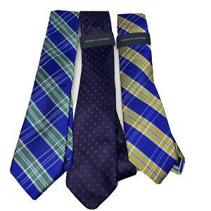 "(3) Tommy Hilfiger Men's Multicolor Silk Blend Tie- 3"" Wide 57"" Long  NEW"