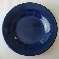 Pottery Barn Sausalito Sapphire Dark Blue Dinner Charger Plate Large 12.5 Inches