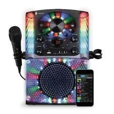 Karaoke Singing Machine Bluetooth Cd+G Led Lights Music Microphone Speakers
