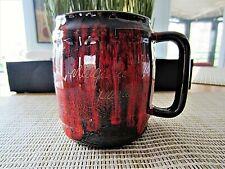 Vintage 40 Canada Art Pottery Brown & Orange Drip Mug Niagara Falls Canada