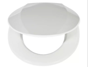 Home Antibacterial Slow Close Toilet Seat - White/7896+65470032