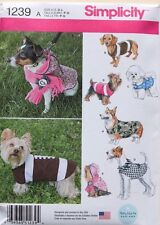 DOG CLOTHES-COAT-COSTUME Simplicity Sewing Pattern 1239 NEW Size S-M-L
