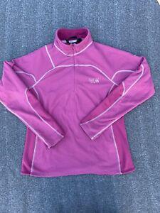 Mountain Hardwear Women's 1/4 Zip Waffle Knit Fleece Pullover Top Large Pink