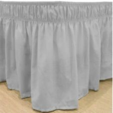 600 Tc Cotton Wrap Around Ruffle Bed Skirt Solid Silver Grey All Size Drop