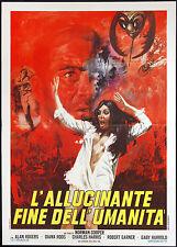 CINEMA-manifesto L'ALLUCINANTE FINE DELL'UMANITà rogers, roos, harris, COOPER