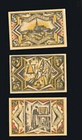 3x Notgeld Sparkasse TWISTRINGEN b. Diepholz Serie 25, 50, 75 Pf top  1921