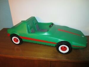 Large Blow Mold Barbie car Made in Germany Green
