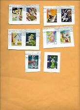 SCOTT 5494-5503 BUGS BUNNY SET OF TEN STAMPS USED ON PAPER