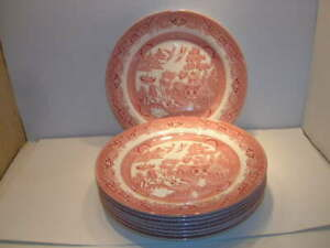 """CHURCHILL ENGLAND RED WILLOW DINNER PLATE 10 3/8"""""""