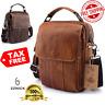 Genuine Leather Cowhide Crossbody Shoulder Bag Messenger Satchel Tablet Handbag