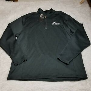 Nike Mens Golf 1/4 Zip Pullover Shirt Jacket XL Extra Large Black Solid NWT