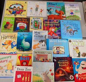 x21 childrens TODDLER book bundle, ages 3 4 5 PRE SCHOOL  dear zoo, little whale