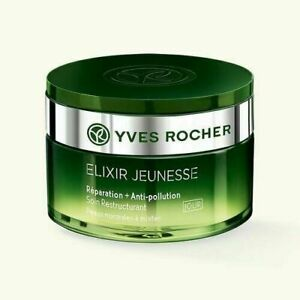 Yves Rocher ELIXIR JEUNESSE Repair+Anti Pollution NIGHT CREAM 50ml NIB EXP:10/21