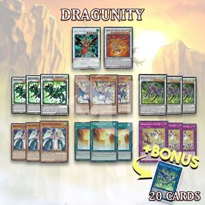 DRAGUNITY DECK 20 | Romulus Vajrayana Ascalon Luin Dragon Ravine YuGiOh +BONUS