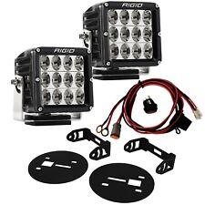 RIGID LED Fog Light Kit w/ D-XL PRO LED Lights D2 for 15-19 Chevy Silverado HD