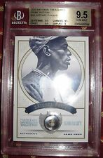 BGS 9.5 SATCHEL PAIGE GAME USED BUTTON AND JERSEY NATIONAL TREASURES 2012 PRIME!