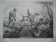 Carle VERNET Lithographie Horses Accident English  Hunting 1820,