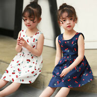 Girls Princess Dress Kids Summer Sleeveless Casual Party Birthday Dress JAS3