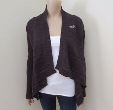Hollister Womens Chunky Knit Cardigan Size XS Sweater Dark Brown No Closure