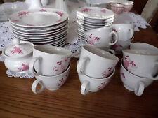 Seltmann Weiden Porzellan Annabell  Kaffeegedecke rosa Blumen Kaffeeservice,top