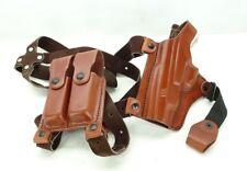 Tagua SH4-653 Full Slide Shoulder Holster Springfield XD 40 Tactical Brown LH T3