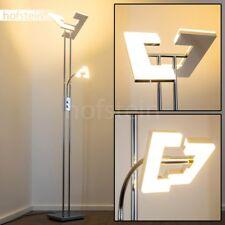 Design LED Deckenfluter mit Lesearm Steh Lampen Chrom Boden Leuchten Wohn Zimmer