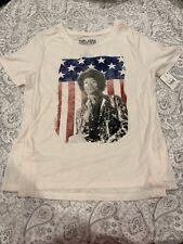 Jimi Hendrix American Flag Super Soft T-shirt Womens X-Small