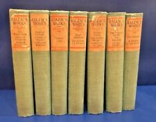 Antique Balzac's Works Volume 1 - 7 1904 Hardcover Century Co
