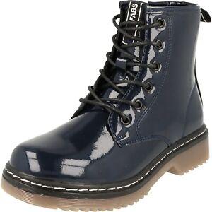 Fabs Kinder Mädchen Freizeit Schuhe Schnürstiefel A84501.40 Blau Lack NEU