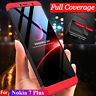 For Nokia 6 2018/ 7 Plus 360° Full Protective Hybrid Case + Tempered Glass Cover