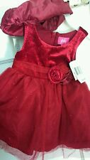 Formal wear, Pinky brand red infant dress 12 month new with tags retail $44