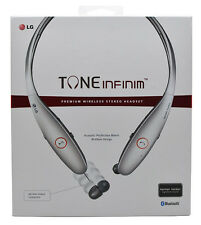 Genuine LG Tone Infinim HBS-900 Bluetooth Headset Harmon Kardon Sound Silver