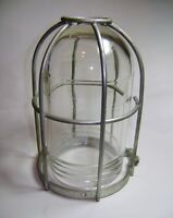 Vintage Industrial Old Factory Light Bulb Cover Explosion Proof Wire Metal Cage