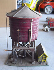 Large O Scale Kit Built Wood Custom Water Tower with Shack