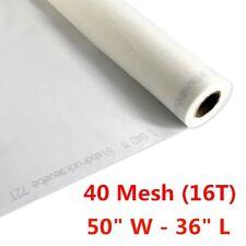 1 Yard 40 Mesh 50 Width Silk Screen Printing Fabric 16t White Mesh Fabric