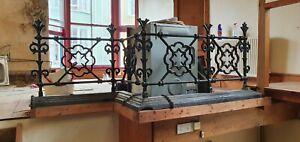 Antique reclaimed cast iron railings/fence