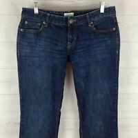 Aeropostale Bayla womens sz 9/10 short stretch blue faded dark wash skinny jeans