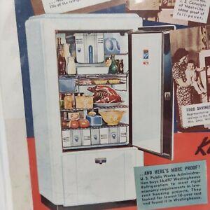 1937 Westinghiuse Refrigerator Advertisement Single Door Vintage Kitchen