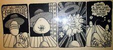 Purple Cat 1 ORIGINAL SKIP WILLIAMSON COMIC STRIP ART LSD Story B&W 1973 Comix Comic Art