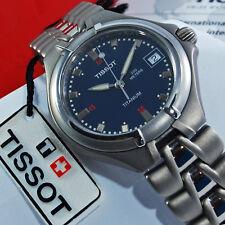 tissot titanium t sport orologio sportivo uomo titanio blu al quarzo con datario