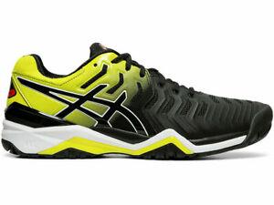 Asics Mens Gel-Resolution 7 E701Y-003 Tennis Shoe Black / Sour Yuzu