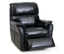New POWER Barcalounger Cross II Wall Hugger Tivoli Black Leather Recliner Chair