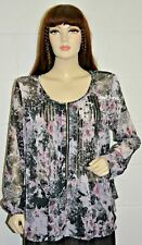 BNWT - Together Floral Print Zip Tunic / Blouse / Top - Size: 46