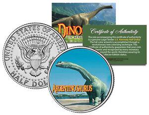 ARGENTINOSAURUS *Collectible Dinosaur* JFK Kennedy Half Dollar US Colorized Coin