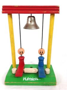 Vintage Playskool Wooden Toy. ca. 1960's. Ring the Bells. A27